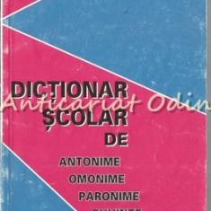 Dictionar Scolar De Antonime, Omonime, Paronime, Cuvinte Polisemantice