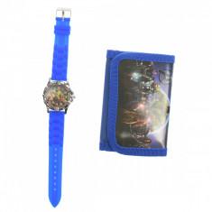 Set ceas, pentru copii, cu Avengers, portofel cadou