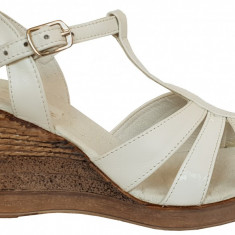 Sandale dama cu talpa ortopedica Ninna Art 134 alb