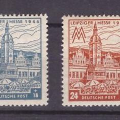 Saxonia de Vest 1946 - Targul din Leipzig, serie neuzata