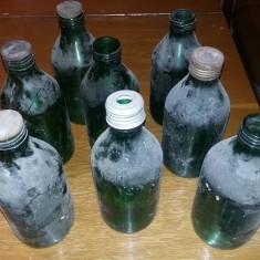 Sticla veche de colectie,Sticle vechi de colectie VERZI Stantate ,T.GRATUIT