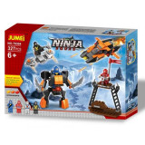 Jucarie constructii tip lego Ninja Squad 323 pcs