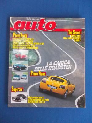 REVISTA AUTO ( IN ITALIANA ) , NR. 5 ( MAI ) / 1999 foto