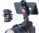 Holder ajustabil rotativ pentru telefoane, camere de actiune , trepiede / monopiede