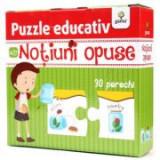 Puzzle educativ. Notiuni opuse
