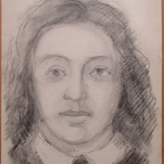 Portret de femeie - semnat  Kiss J.