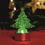 Decor candela in forma de Bradut, iluminat LED verde, inaltime 8.5 cm, Home