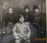 Camarazi de front 1941. Reg. 3 Artilerie Calareata Focsani la Bacau.WW2.
