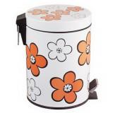 Cos gunoi cu pedala, Flower, 12L orange, MN018584