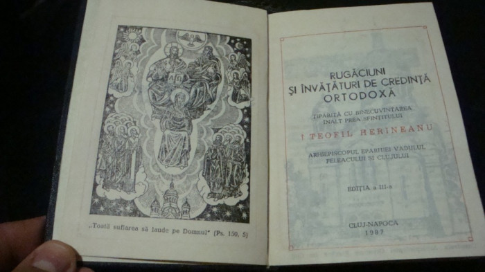 Rugaciuni si invataturi de credinta ortodoxa - 1987 - Teofil Herineanu