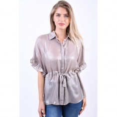 Bluza Eleganta Object Janlie String Argintiu