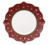 Farfurie intinsa Toy delight flat plate red, cod 490584