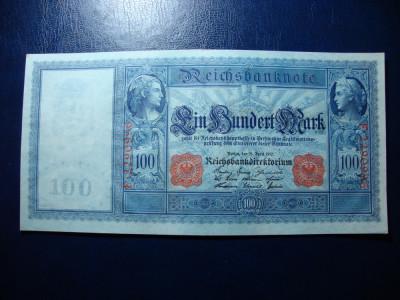 GERMANIA 100 MARK 1910 XF+ SUPERBA foto