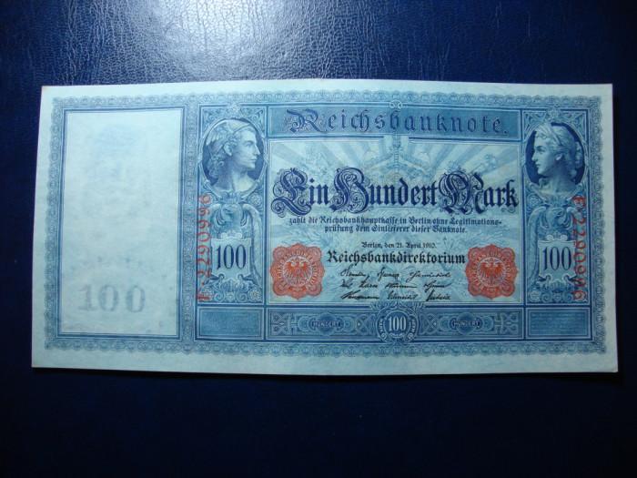 GERMANIA 100 MARK 1910 XF+ SUPERBA