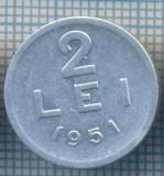 AX 723 MONEDA- ROMANIA - 2 LEI -ANUL 1951 -STAREA CARE SE VEDE