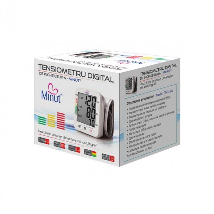 Tensiometru digital pentru incheietura mainii Minut, 90 valori masurate