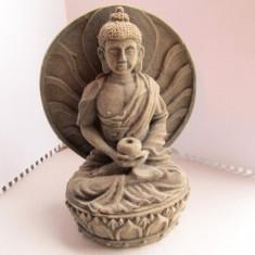 Statueta Buddha, probabil din Ghips (circa 17cm)