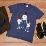 """Cumpara ieftin Tricou personalizat """"Tata cu fete"""" (Marime: S, Marime imprimeu: A3 + 10 lei,..."""