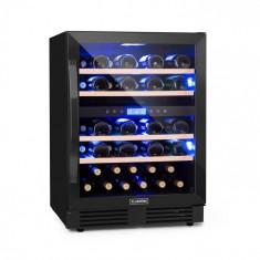 Klarstein Vinovilla Onyx 43, frigider pentru vin cu două zone, 129 l, 43 de sticle, 3 culori