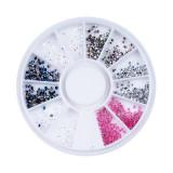 Strasuri Unghii Forma Diamant Diverse Culori - Carusel Strasuri