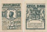 1917, 10 Bani (P-69) - Romania - stare aUNC