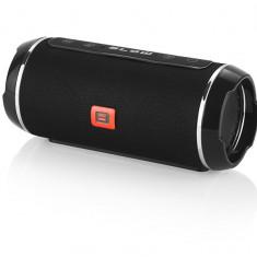 Boxa Portabila Wireless Bluetooth Blow cu USB, Card SD, AUX Jack si Radio FM, Putere 20W, Culoare Negru