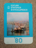 CCO - CALENDARE FOARTE VECHI - ANUL 1980 - NR 4