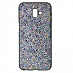 Husa Disco Glitter pentru Samsung Galaxy M20, TPU, Silver Dust