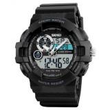 Cumpara ieftin Ceas Barbatesc SKMEI CS902, curea silicon, digital watch, Functii- alarma, ora, data, cadran luminat, rezistent 3ATM, negru
