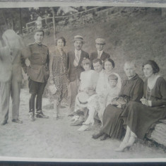 Grup cu ofiter roman, Snagov, perioada interbelica// fotografie