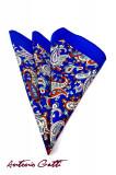 Batista Sacou Barbati Bleu Cu Flori BA001 106