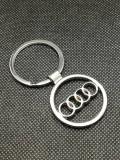 Breloc Auto Audi logo 2 fete accesorii cheie masina pentru detinatori posesori
