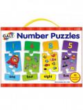 Puzzle cu numere Galt, 10 bucati, 3-5 ani