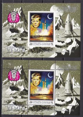 Yemen  1969   cosmos  Kennedy  MI  bl.187A+B   MNH  w64 foto