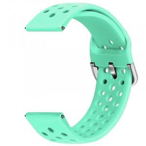 Curea din silicon compatibila cu Fitbit Versa, Telescoape QR, 22mm, Mint Green