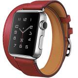 Curea pentru Apple Watch 40mm piele iUni Double Tour Rosu