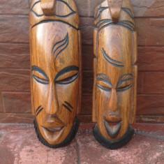 # 1 Arta Africana - Set Masca din lemn masiv !!!