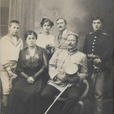 Ofiteri romani cu sabii Primul Razboi Mondial fotografie veche