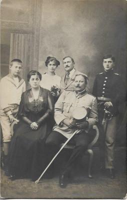 Ofiteri romani cu sabii Primul Razboi Mondial fotografie veche foto