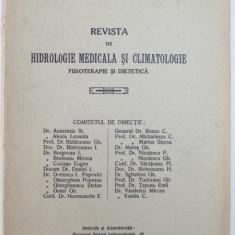REVISTA DE HIDROLOGIE MEDICALA SI CLIMATOLOGIE - FISIOTERAPIE SI DIETETICA , ANUL XVIII - No. 5-6 , SEPTEMBRIE - DECEMBRIE , 1939