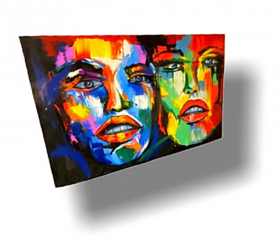 Tablou Rainbow Faces foto