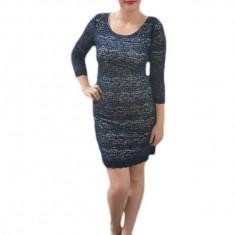 Rochie sexi, de culoare bleumarin, de lungime mini