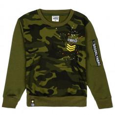 Bluză pentru băiat fără glugă verde Bolf HB1962