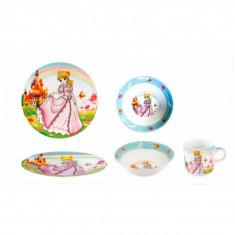 Set serviciu masa din portelan pentru copii Printesa, 010795