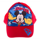 Sapca baieti Mickey Mouse Super rosie