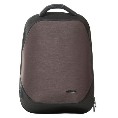Rucsac laptop Lamonza Anchor, port USB si cablu inclus, maro foto