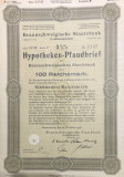 100 Reichsmark titlu de stat Germania 1936