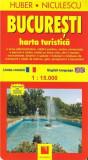 Bucuresti - Harta turistica | Huber Niculescu