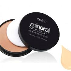 Pudra Compacta Profesionala Ingrid Cosmetics Mineral Silk Lift 21 Light Beige