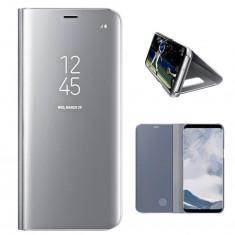 Husa Telefon Flip Book Clear View Samsung Galaxy S8 g950 Silver